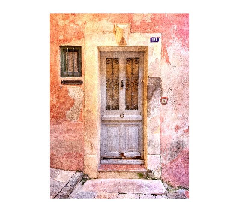 Pink Door Photo South of France Rustic Decor Luminous image 0