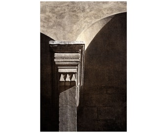 Italy Column Photo, Florence, Italy, Vasari Corridor, Ponte Vecchio, Architecture Photo, Gift for Him, Masculine