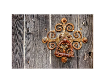Fancy Old Latch Photo, Rusty Gate, Cottage Decor, English Countryside