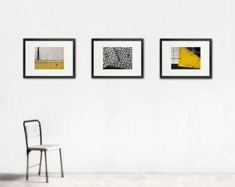 Urban Chic Photo Set, Street Photography, Set of Three, Abstract Art, Geometry