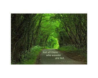 Woodland Path Photo, Country Road, Emerald Green, Inspirational Quote, Faeries, Elves, England, Tolkien