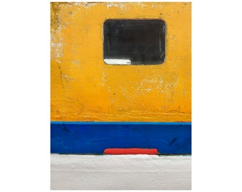 Abstract Art, Fishing Boat, South of France, Seaside, Josef Albers, Primary Colors, Modern Art