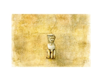 Old Paris Photo, Shutter Dog, French Style, Gold Tones, Home Decor, Simplicity