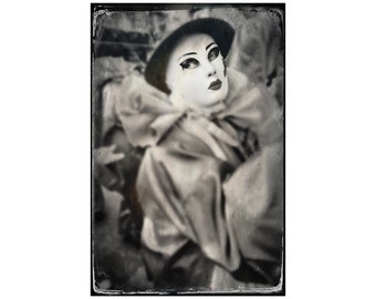 French Carnaval Photo, Limoux France, Carnival, Female Pierrot, Travel Photography