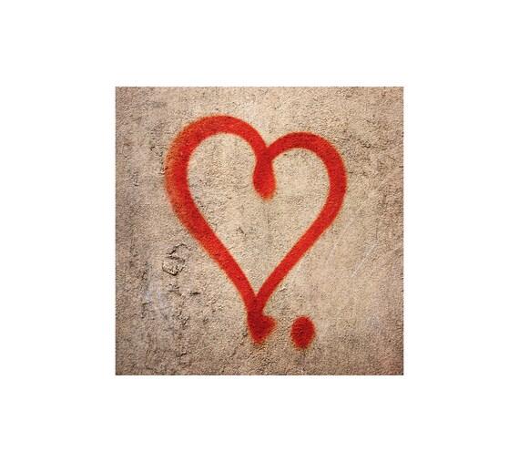 Rotes Herz Foto Street Art Mein Schatz Ich Liebe Dich Etsy