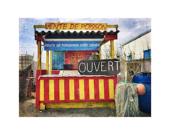 Fresh Fish, Seafood, South of France, Primary Colors, Seaside, Rustic Landscape