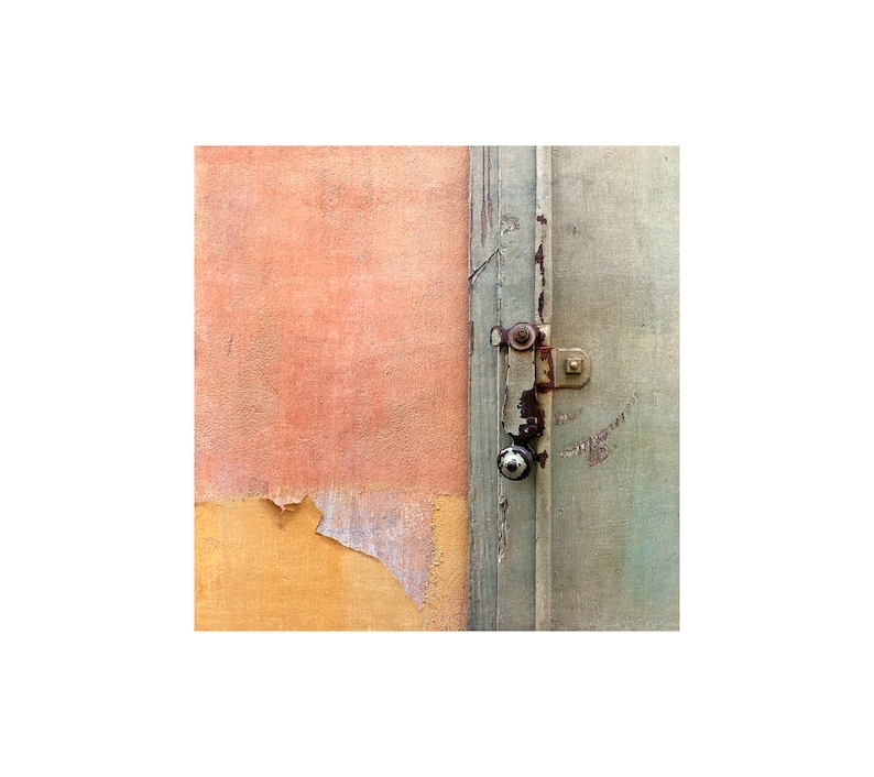Pastel Colors Photo Old Door Latch Spring Hues Abstract image 0