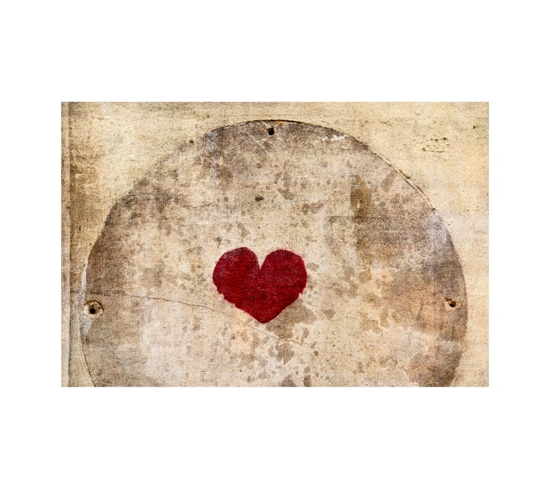 Circled Heart Paris Red Heart Valentine's Day Love image 0