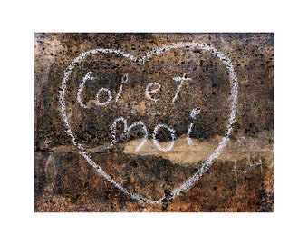 Paris Heart Photo, First Anniversary Gift, Paris is for Lovers, Valentine I Love You, Street Art