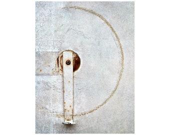 Simple Circle Photo, Paris Photography, Black and White, Zen Minimalist, Quiet Contemplation