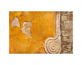 Gold Spiral Photo, Tuscany, Italy, Architecture Photo, Honey Gold, Travel Photography