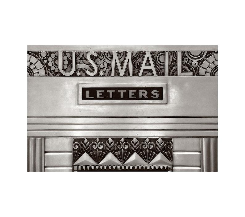 Art Deco Sign U.S. Mail Architecture Photo Kansas City image 0