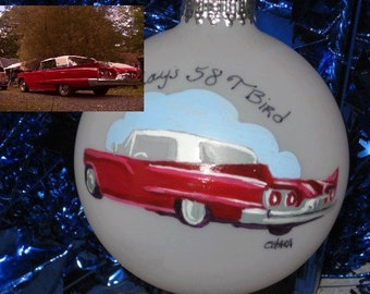 Personalized / Commissioned Art Hand Painted Custom Car Portrait Ornaments