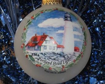 Portland Head Light Limited Edition Print Ornament.