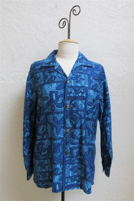 "On Sale! 1950's Men's ""Liberty House"" Blue Hawaiia"