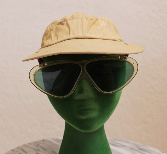 "Rare 1940's ""Clearasite"" Khaki Cotton Visor Cap wi"