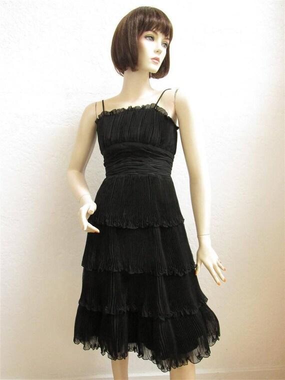 """1950's """"Suzy Perette"""" Black Cocktail Party Dress … - image 1"""