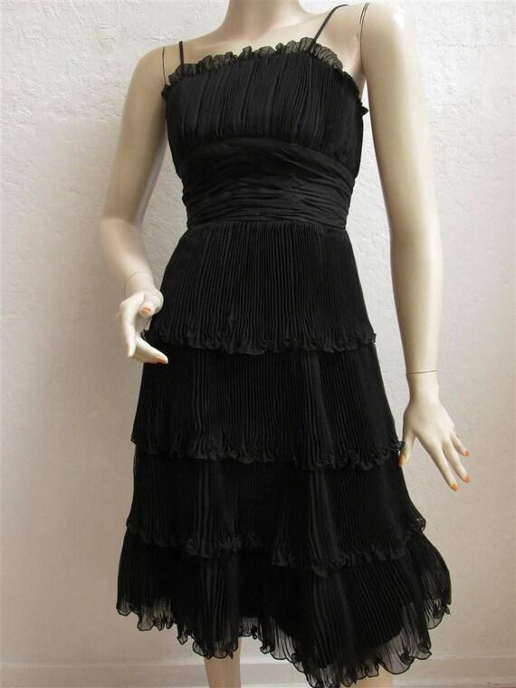 """1950's """"Suzy Perette"""" Black Cocktail Party Dress … - image 4"""