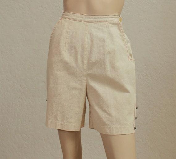 "1950's ""Koret of California"" Cotton Muslin Shorts"
