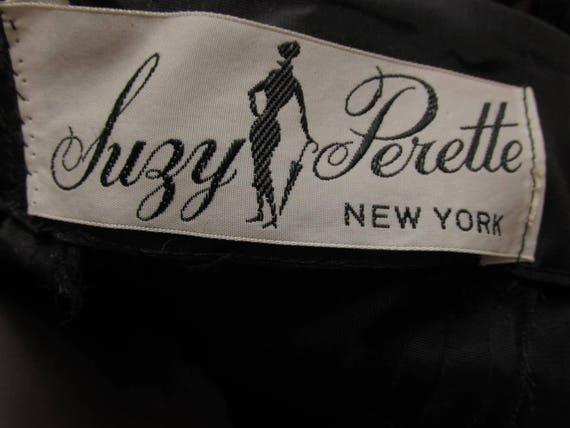 """1950's """"Suzy Perette"""" Black Cocktail Party Dress … - image 5"""
