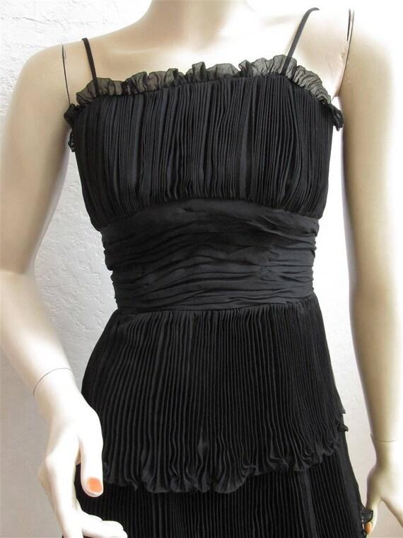 """1950's """"Suzy Perette"""" Black Cocktail Party Dress … - image 3"""