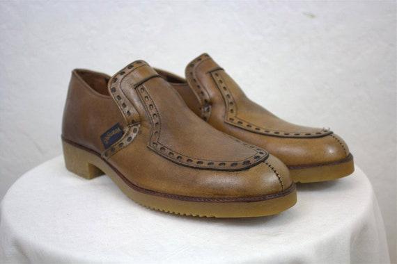 "1960's ""Wrangler"" Men's Brown Platform Shoes / Men"