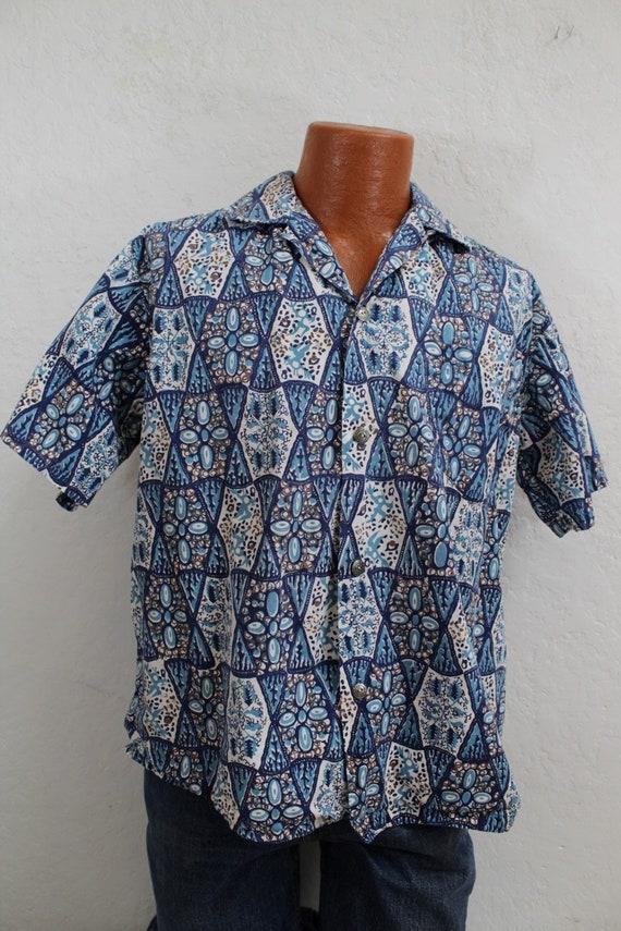 "1950's ""Kahala"" Hawaiian Men's Cotton Shirt / Aloh"