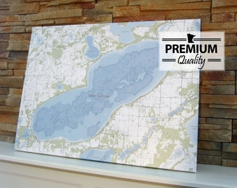 Otter Tail Lake - Canvas Lake Map (Premium Quality)