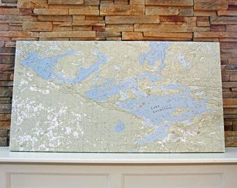 Lake Vermilion - Canvas Lake Map (Standard Quality)