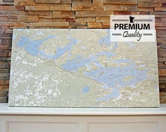 Lake Vermilion - Canvas Lake Map (Premium Quality)