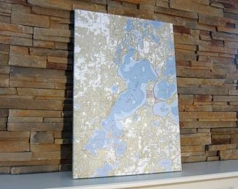 Gull Lake - Canvas Lake Map (Standard Quality)