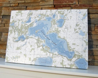 Clearwater Lake - Canvas Lake Map (Standard Quality)