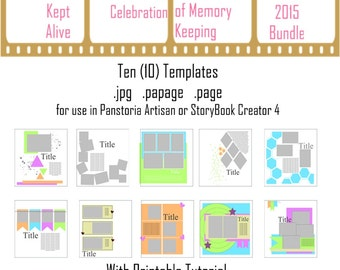 2015 NSD Bundle of Scrapbooking Sketches / Templates for Panstoria Artisan