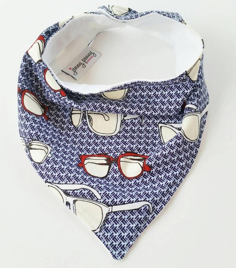 Bandana Bib / Hipster Sporty Glasses in Blue Bandana Bib / image 0