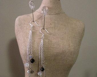 Sparkling Swarovski Dangling Earrings