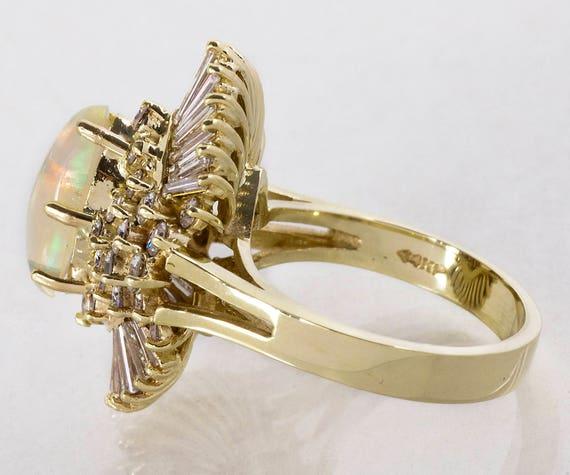 Vintage Ring - Vintage 1960's 14k Yellow Gold Dia… - image 2
