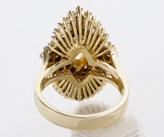 Vintage Ring - Vintage 1960's 14k Yellow Gold Dia… - image 3