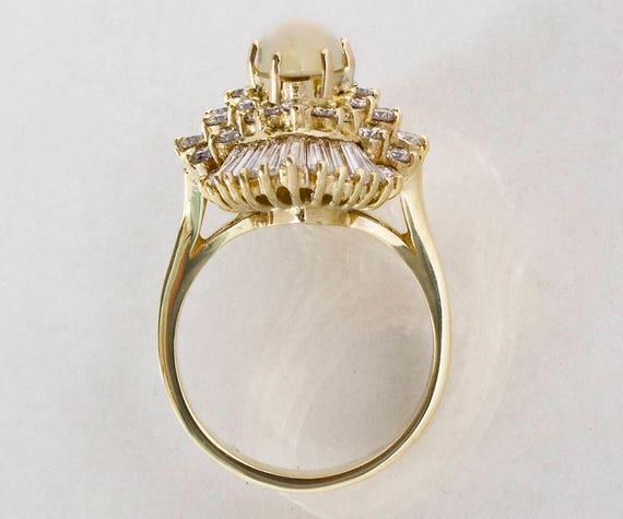 Vintage Ring - Vintage 1960's 14k Yellow Gold Dia… - image 4