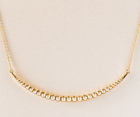 Antique Necklace - Antique 1920's Seed Pearl Neckl
