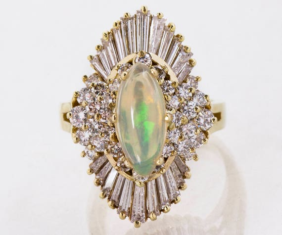 Vintage Ring - Vintage 1960's 14k Yellow Gold Dia… - image 1