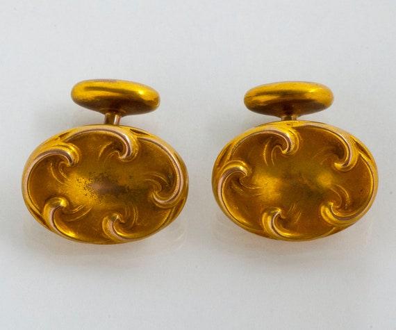Late Victorian Monogrammed Antique 10K Gold cufflinks Sleeve Buttons Art Deco 10k Gold Cuff Links Men 10k Gold Antique Jewelry Accessories