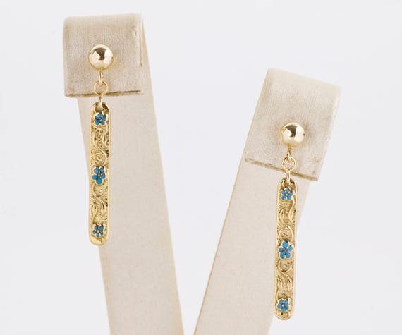 Antique Earrings - Antique Yellow Gold Lingerie Pi