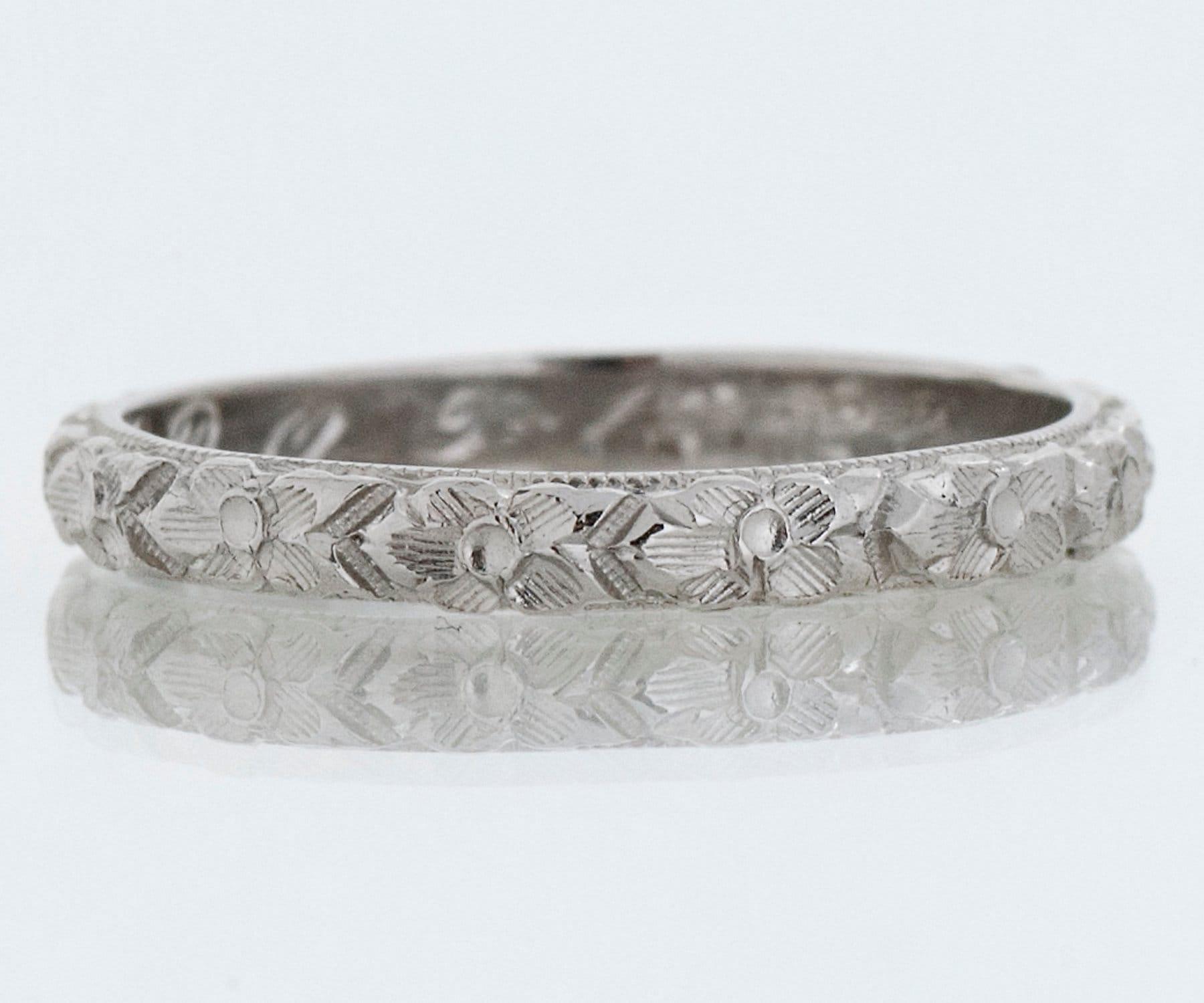 50: Flower Pattern Wedding Ring At Reisefeber.org