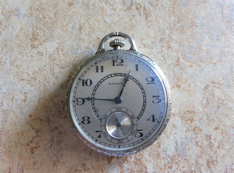 1926 Hamilton, model 2, Grade 902, 19J, Size 12s Open face Pendant Men  Pocket Watch, runs and keeps accurate time in excellent condition