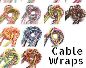 Decorative Cabel Wraps for Small Electronics. Set of 4 different color patterns.