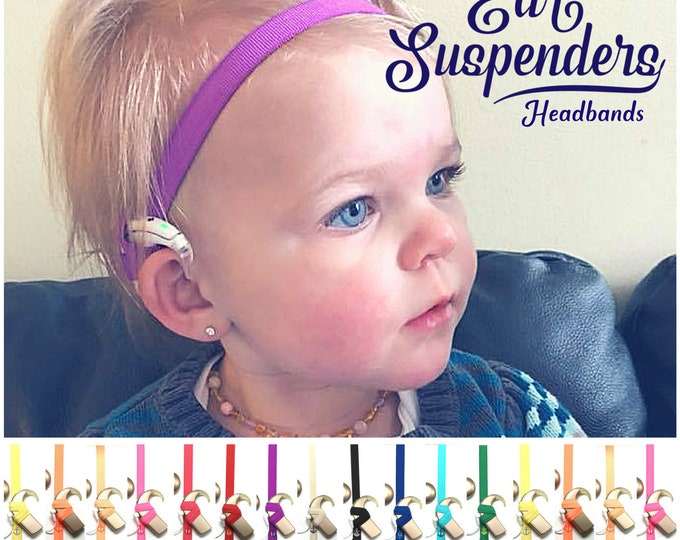 Cochlear Implant Headband - Adjustable Length - Silicone lined - Non Slip Grip - for all ages and activities.