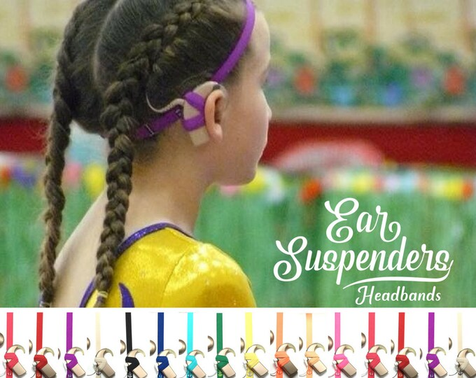 Cochlear Implant Headband - Ear Suspenders - Adjustable Sizing - Silicone lined - Non Slip Grip - for all ages and activities.