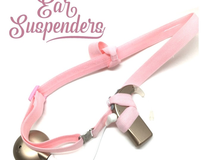 Light Pink - Cochlear Implant Heaband - Adjustable Length - Silicone Grip Sleeve - Non Slip Grip  - Unilateral, Bilateral, Bimodal option
