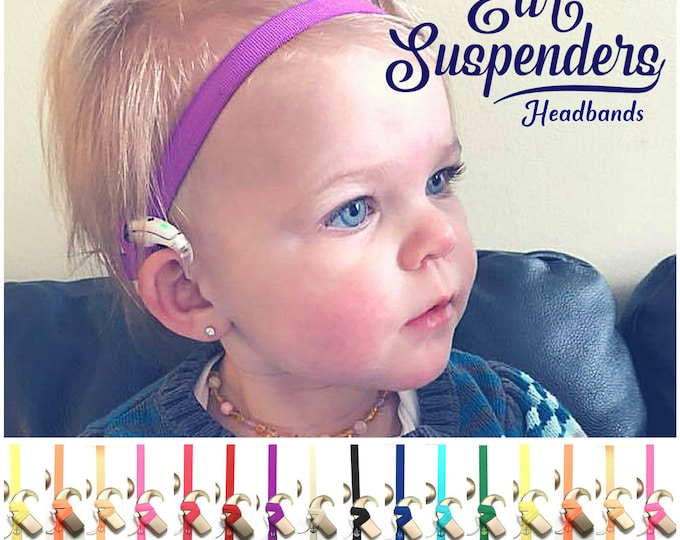 Cochlear Implant Heaband - Adjustable Length - Silicone lined - Non Slip Grip - for all ages and activities.