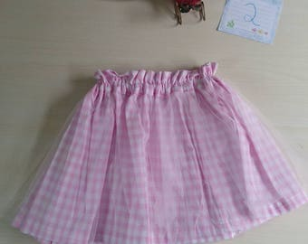 Size 2 fairy skirt pink gingham